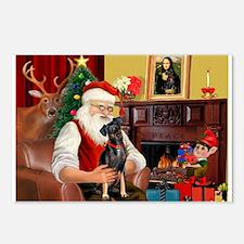 Santa'sMiniature Pinscher Postcards (Package of 8)