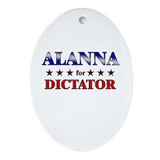 ALANNA for dictator Oval Ornament