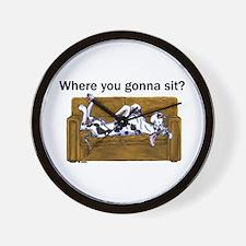 NH Where RU Gonna Sit? Wall Clock