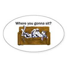 NH Where RU Gonna Sit? Oval Decal