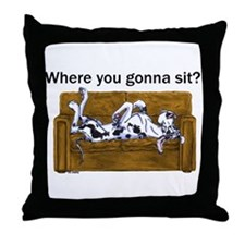 NH Where RU Gonna Sit? Throw Pillow