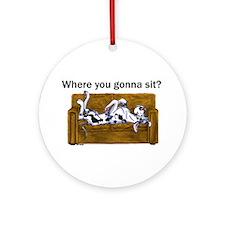 NH Where RU Gonna Sit? Ornament (Round)