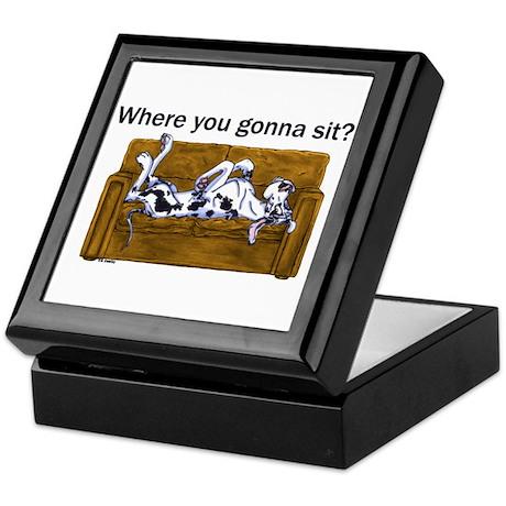 NH Where RU Gonna Sit? Keepsake Box