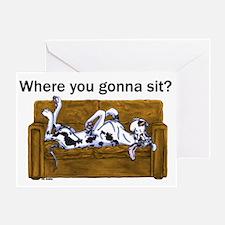 NH Where RU Gonna Sit? Greeting Card