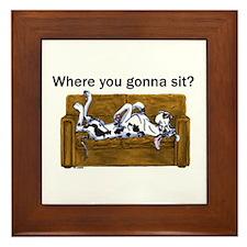 NH Where RU Gonna Sit? Framed Tile