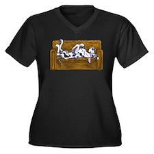 NH Couchfull Women's Plus Size V-Neck Dark T-Shirt