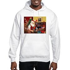 Santa's 2 Mun Pinschers Hoodie