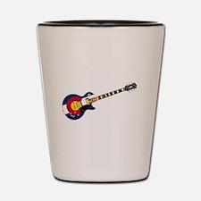 Colorado Flag Guitar Shot Glass