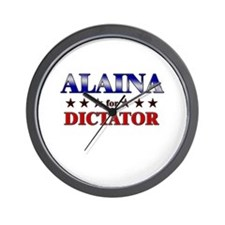 ALAINA for dictator Wall Clock