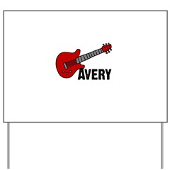 Guitar - Avery Yard Sign