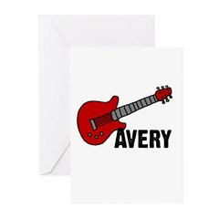Guitar - Avery Greeting Cards (Pk of 20)