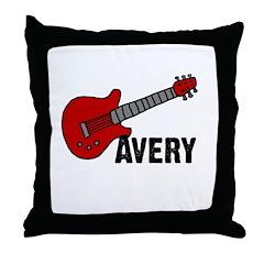 Guitar - Avery Throw Pillow