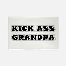 Kick Ass Grandpa Rectangle Magnet