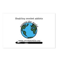 Enabling Crochet Addicts Postcards (Package of 8)