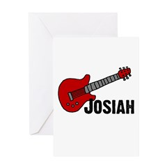 Guitar - Josiah Greeting Card
