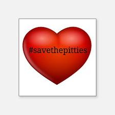 Save the pitties Sticker