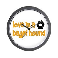 Love is a Bagel Wall Clock