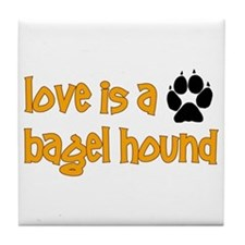 Love is a Bagel Tile Coaster