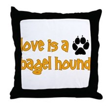 Love is a Bagel Throw Pillow