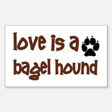 Love is a Bagel Rectangle Decal