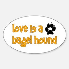 Love is a Bagel Oval Decal