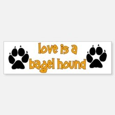 Love is a Bagel Bumper Bumper Bumper Sticker