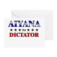 AIYANA for dictator Greeting Card
