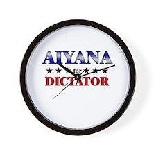 AIYANA for dictator Wall Clock