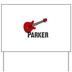 Guitar - Parker Yard Sign