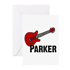 Guitar - Parker Greeting Cards (Pk of 10)