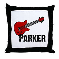 Guitar - Parker Throw Pillow