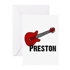Guitar - Preston Greeting Cards (Pk of 20)