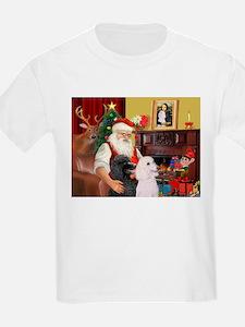 Santa's 2 Std Poodles T-Shirt