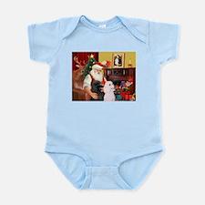 Santa's 2 Std Poodles Infant Bodysuit