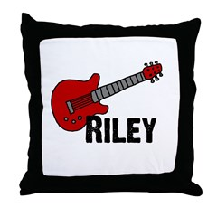 Guitar - Riley Throw Pillow