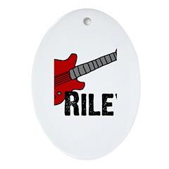 Guitar - Riley Oval Ornament