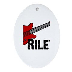 Guitar - Riley Oval Ornament