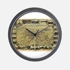 Bakersfield old map Wall Clock