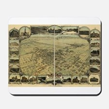 Bakersfield old map Mousepad