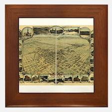 Bakersfield old map Framed Tile