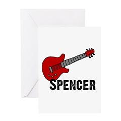 Guitar - Spencer Greeting Card