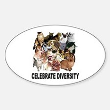 Celebrate Diversity Oval Decal