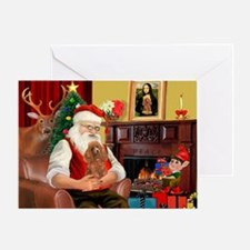 Santa's Toy Poodle (a) Greeting Card