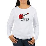 Guitar - Xavier Women's Long Sleeve T-Shirt