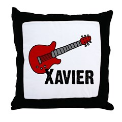 Guitar - Xavier Throw Pillow
