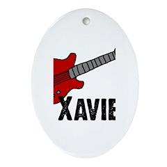 Guitar - Xavier Oval Ornament