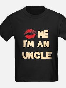 Kiss Me I'm An Uncle Black T-Shirt