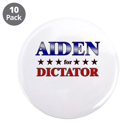 """AIDEN for dictator 3.5"""" Button (10 pack)"""