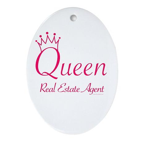 RETRO QUEEN (Pink) Oval Ornament