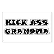 Kick Ass Grandma Rectangle Decal